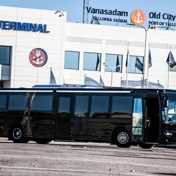 Globuss - Peobuss, Mustbuss, Tallinna Sadam, Buss Pargib